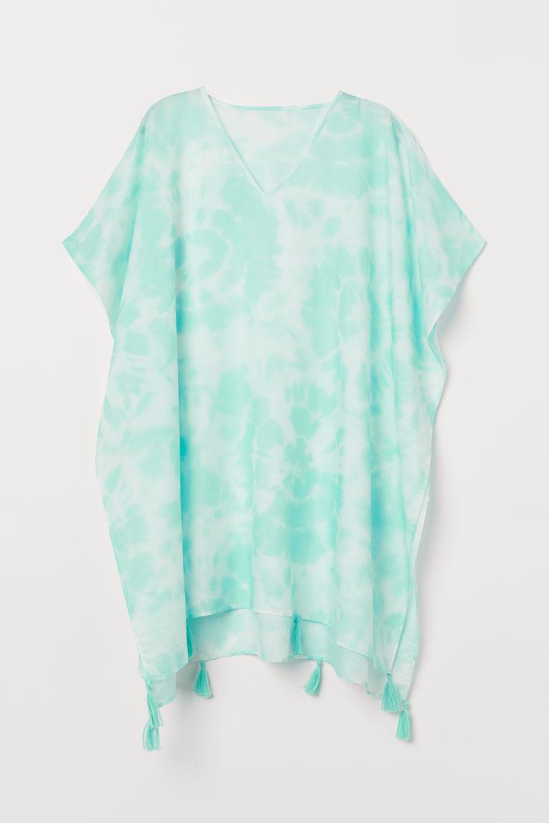 H & M - 穗飾斗篷 - 藍綠色