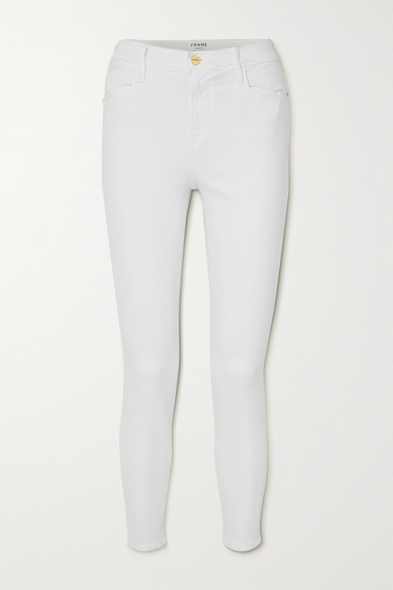 FRAME - Le High 磨边紧身牛仔裤 - 白色 - 30