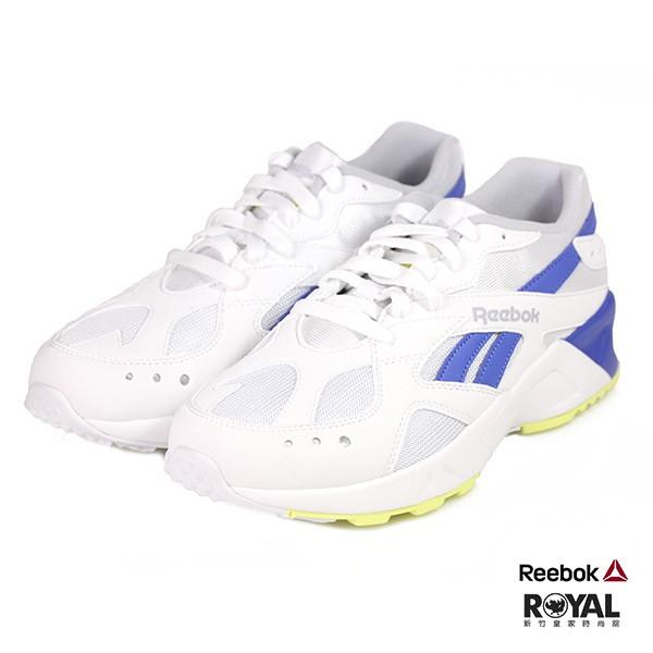Reebok Aztrek 白/藍色 皮質 網布 慢跑運動鞋 男款 NO.B0443 廠商直送 現貨