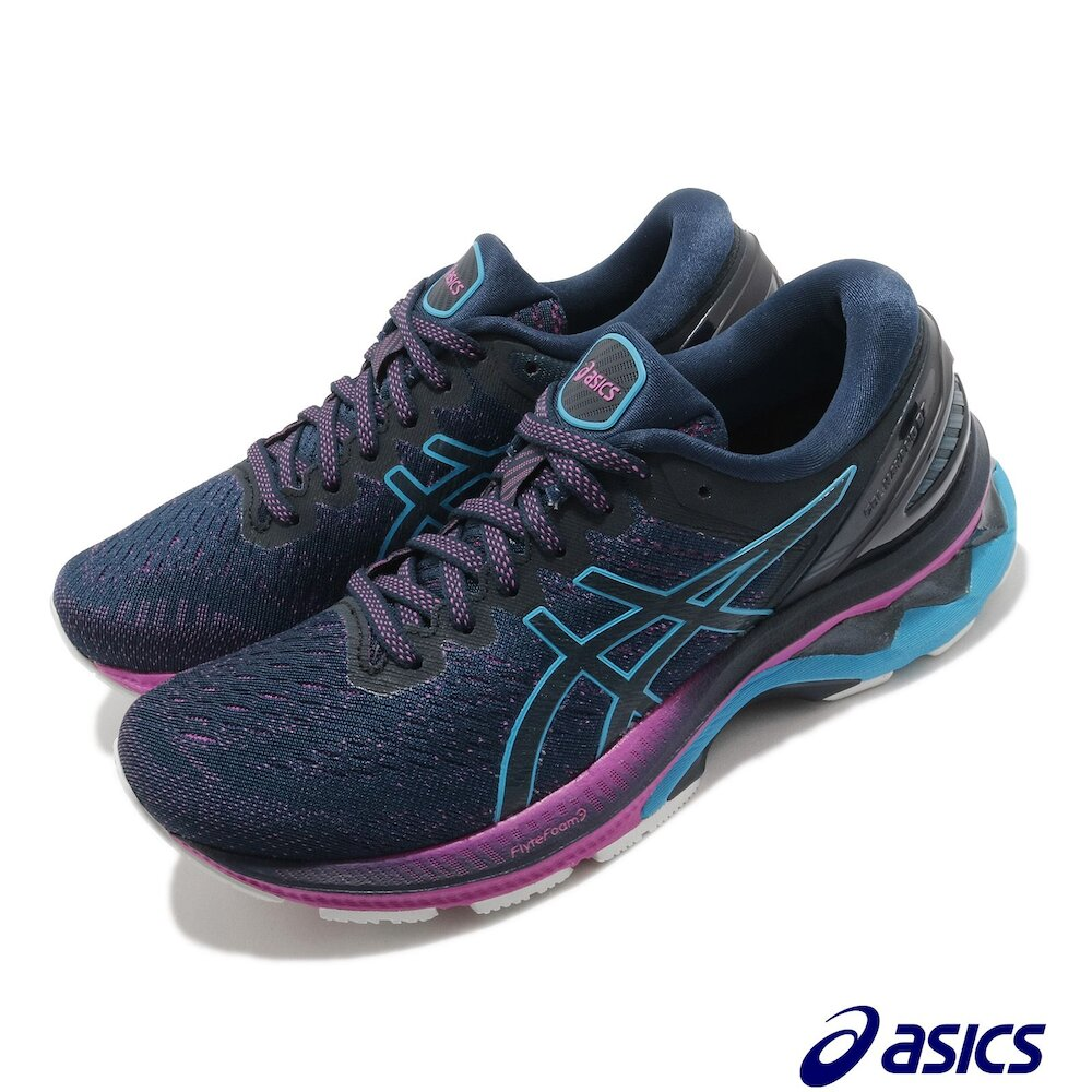 ASICS 慢跑鞋 Gel-Kayano 27 D 寬楦 女鞋 亞瑟士 高支撐 穩定 反光 亞瑟膠 藍 紫 [1012A713401]
