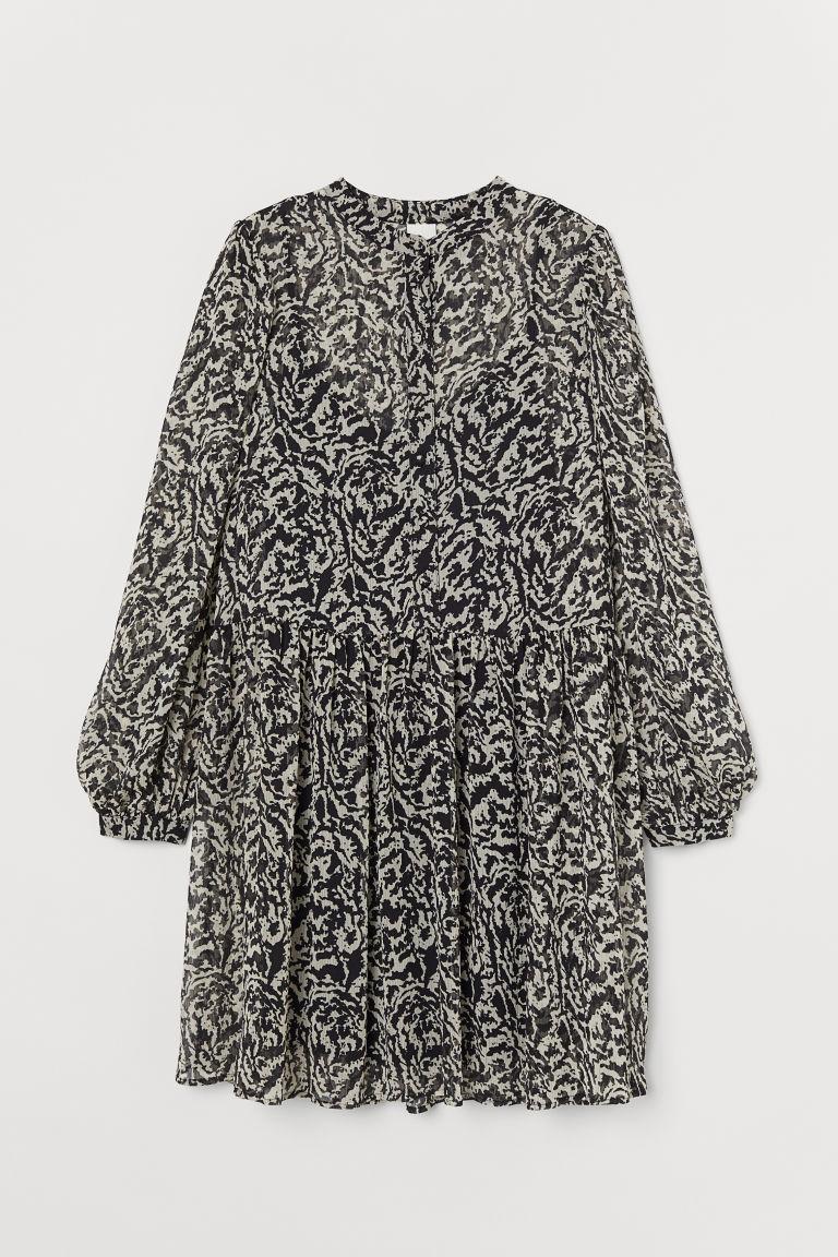 H & M - 寬鬆洋裝 - 黑色
