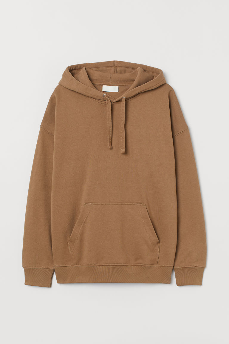 H & M - 棉質連帽上衣 - 米黃色