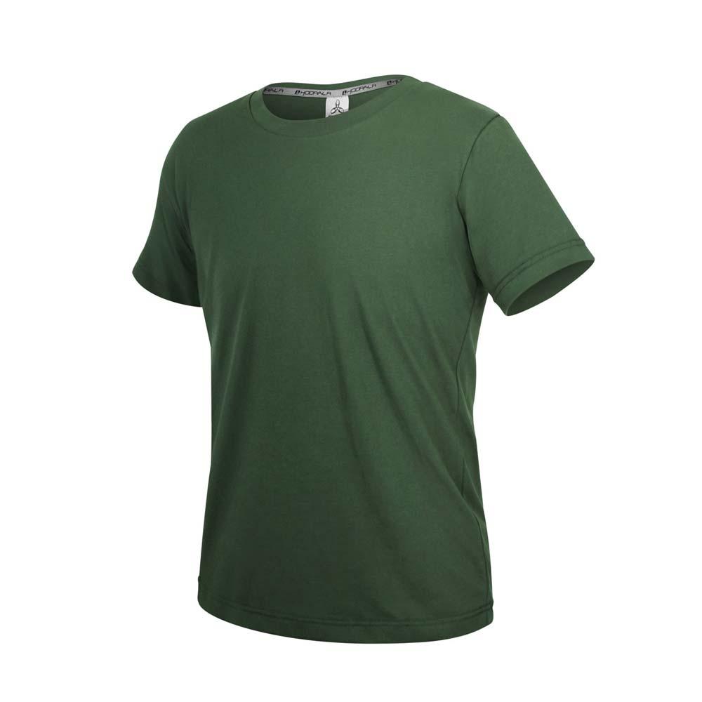 HODARLA ZERO DRY男機能排汗棉短袖T恤-台灣製 抗UV 反光 上衣 慢跑 軍綠