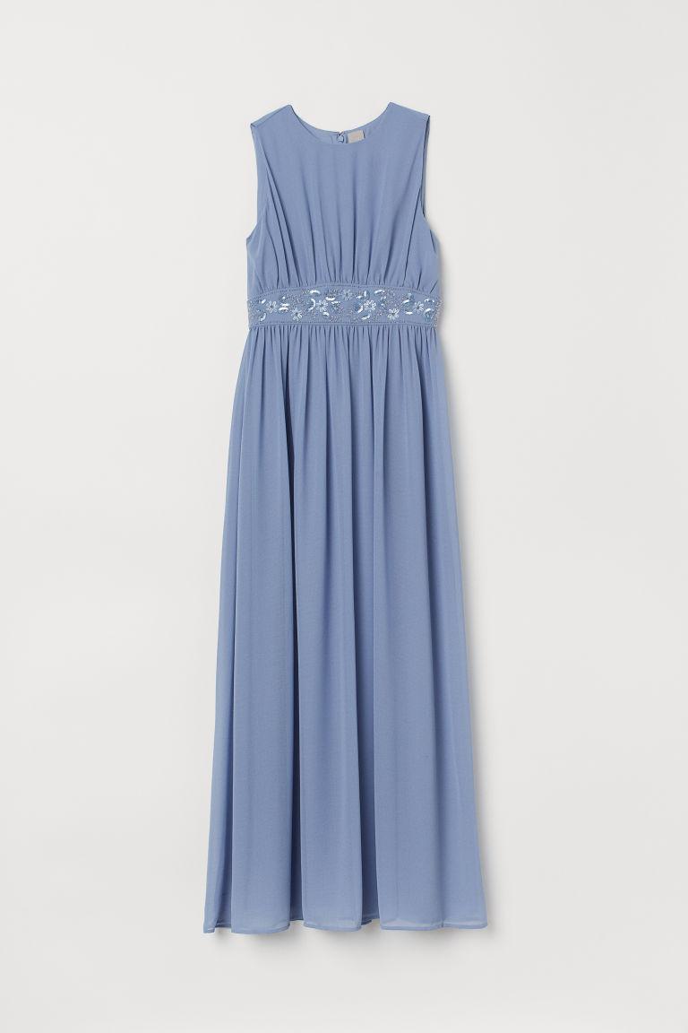 H & M - 珠飾洋裝 - 藍色