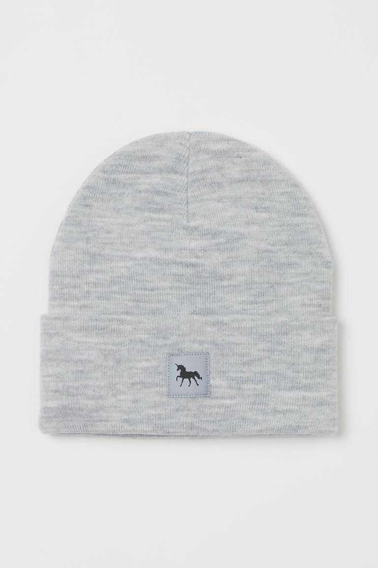 H & M - 精織帽 - 灰色