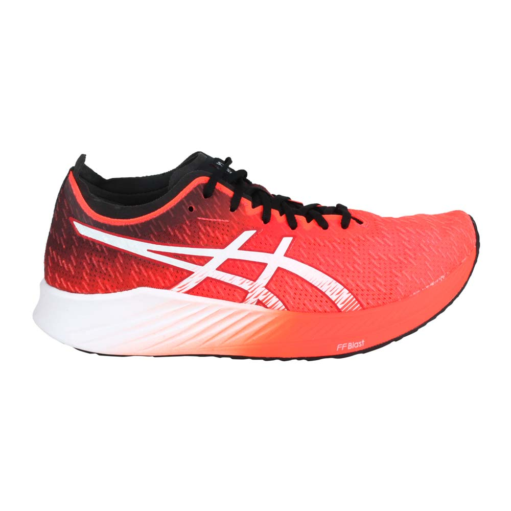 ASICS MAGIC SPEED 限量-女路跑鞋-慢跑 運動 亞瑟士 螢光橘紅白