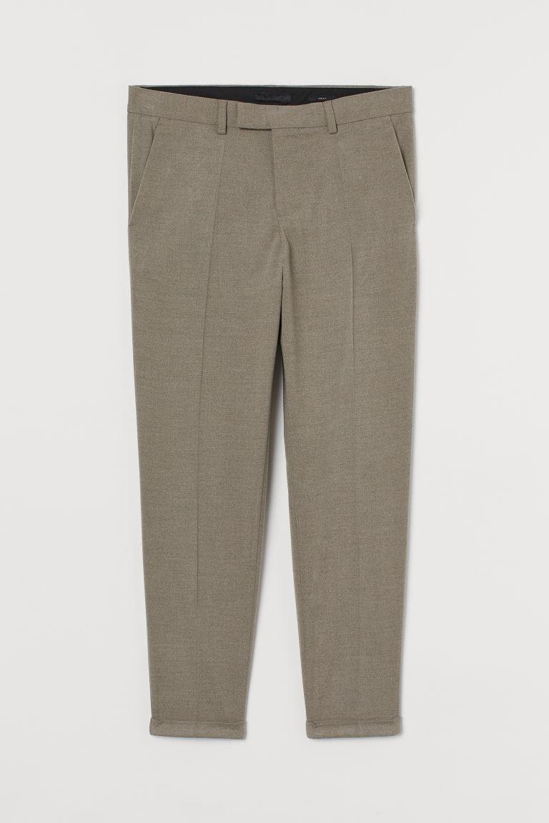 H & M - 貼身修身長褲 - 褐色