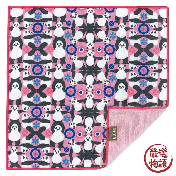 【日本製】【+ima】今治毛巾手帕 體操熊貓圖案 SD-4089 - 日本製 今治毛巾