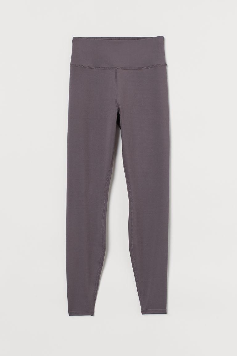 H & M - 特柔緊身運動褲 - 灰色