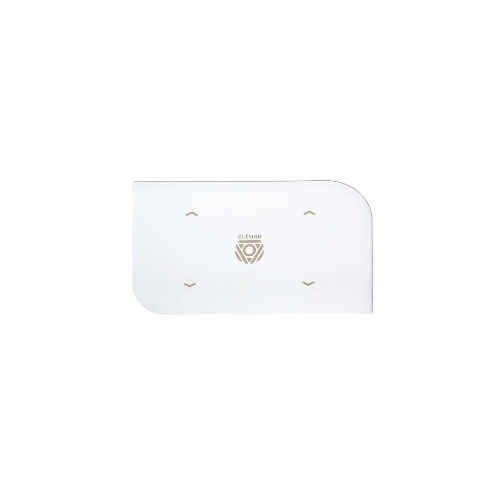 【英國品牌Clesign頂級進口倒立墊-乾濕絕佳止滑-可分期】PRO 閃耀1.2mm超薄旅行用手墊 倒立專用-白 附背袋