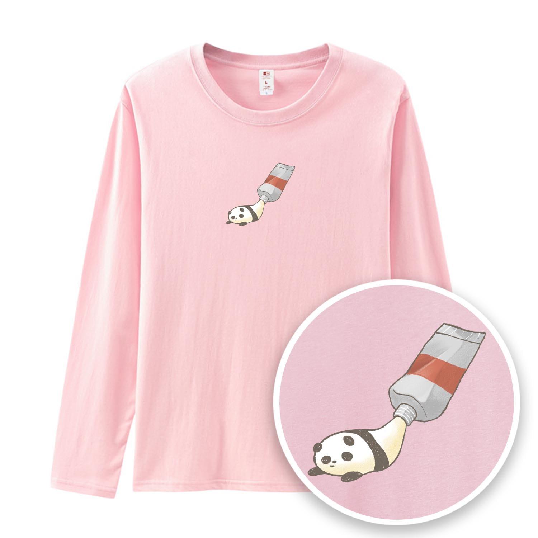 懶懶熊貓顏料薄長袖-GTLS16