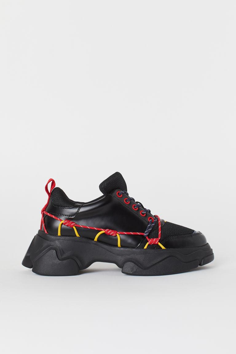H & M - 厚底運動鞋 - 黑色
