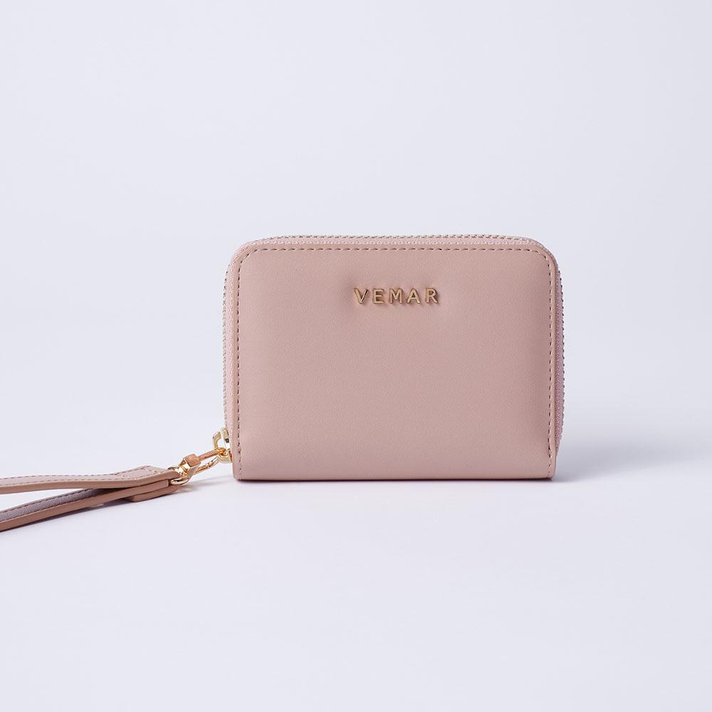 【VEMAR】莫蘭迪氣質手腕零錢包(輕甜粉)