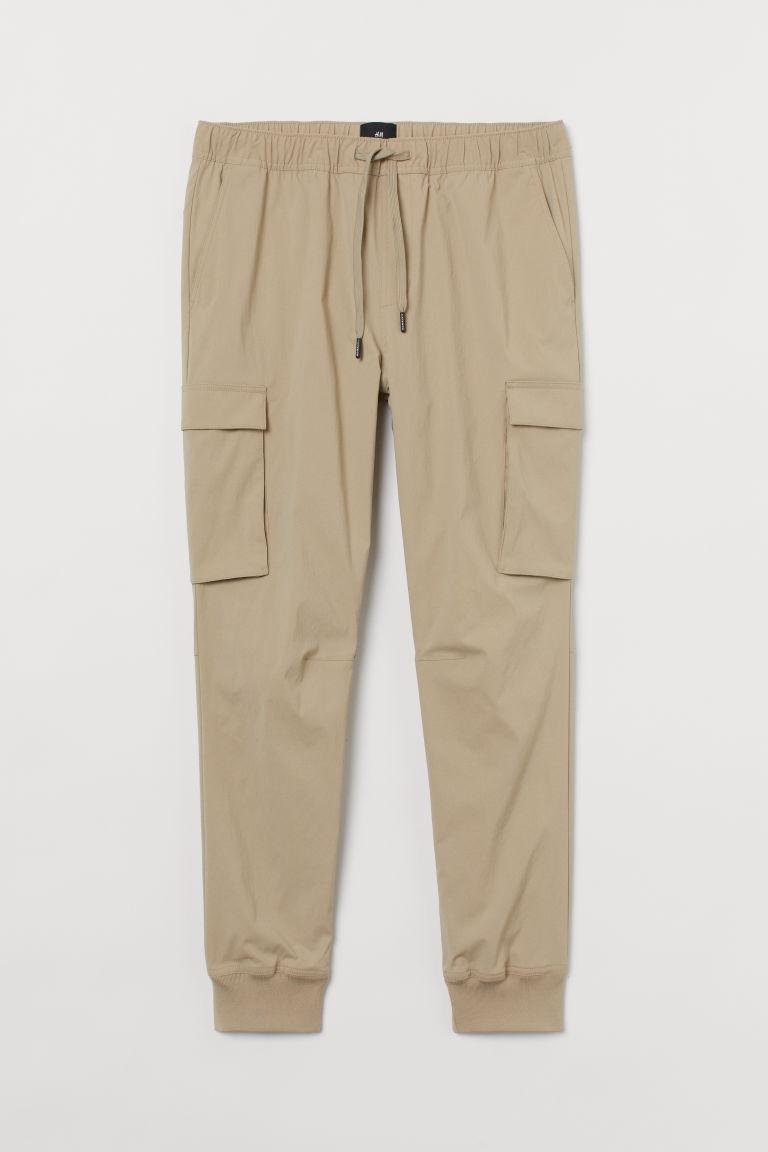 H & M - 貼身工作慢跑褲 - 米黃色