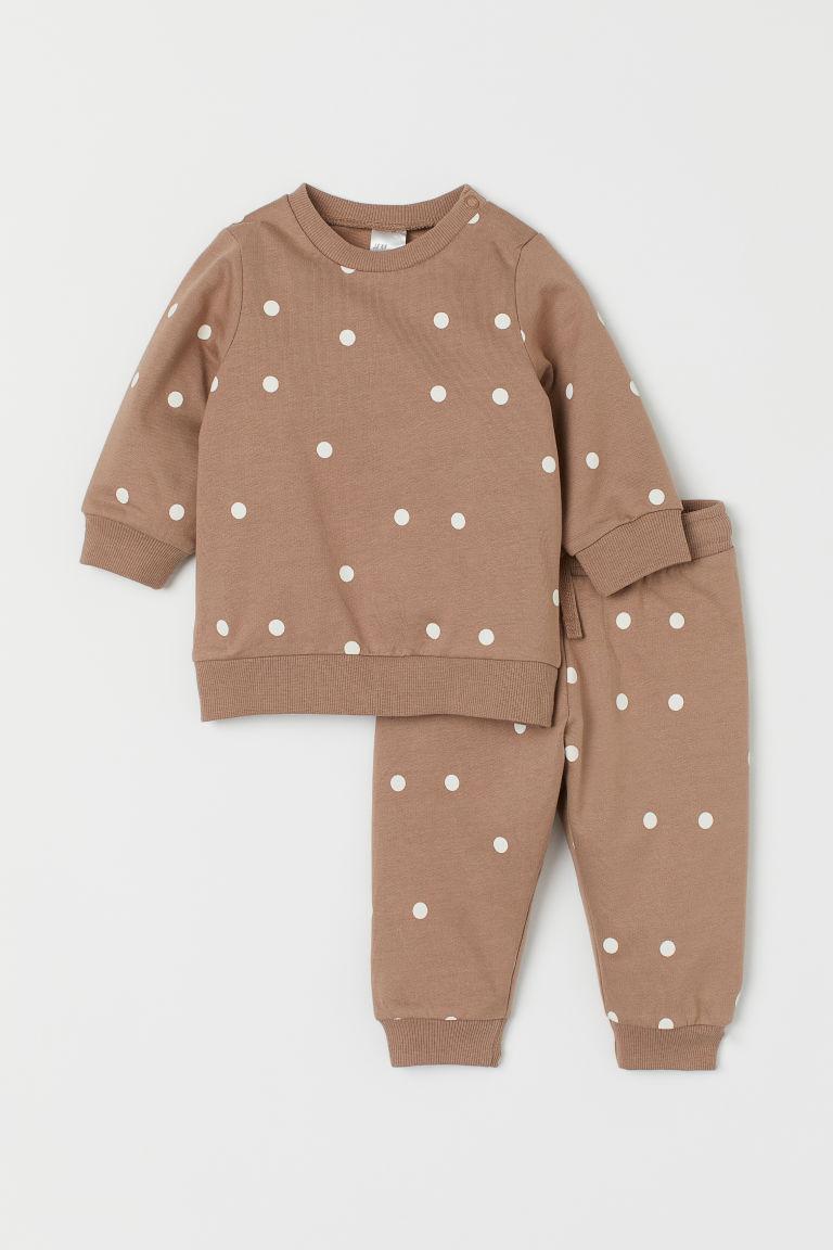H & M - 2件組運動套裝 - 褐色