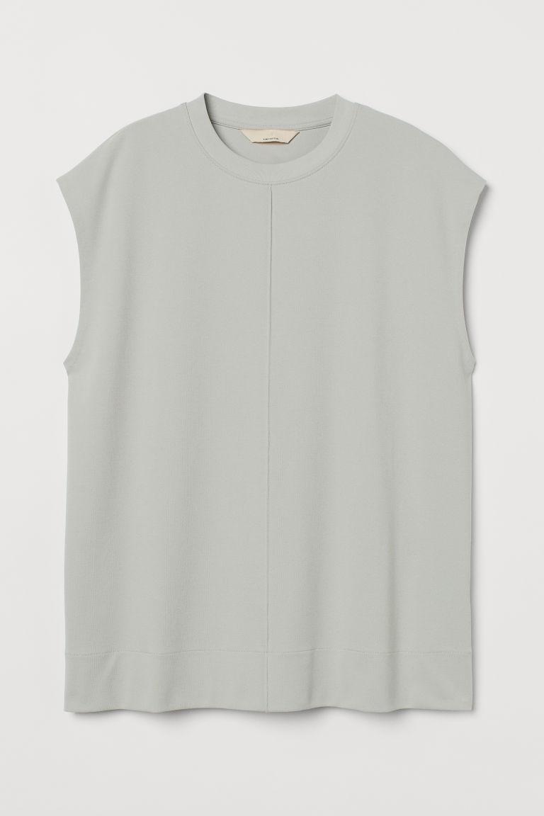 H & M - 比馬棉上衣 - 銀色