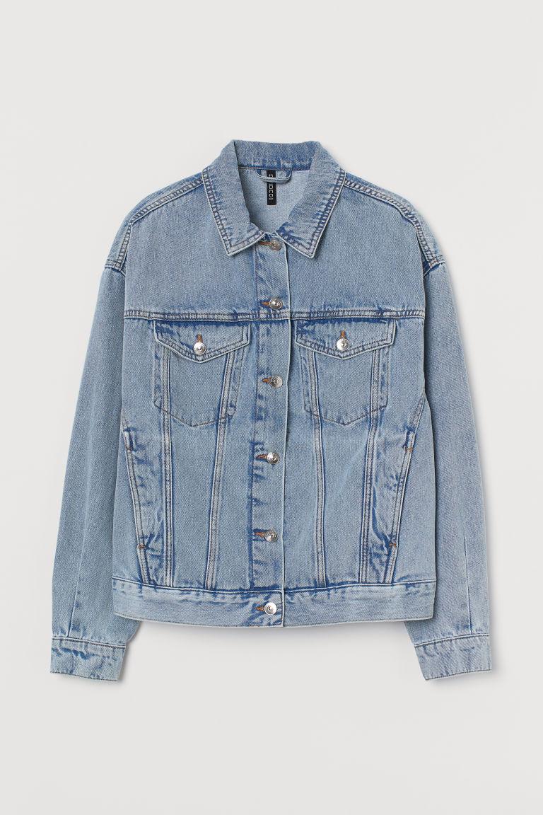 H & M - 丹寧外套 - 藍色