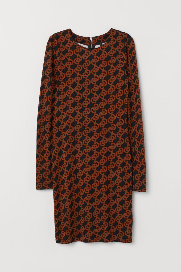 H & M - 平紋洋裝 - 黑色