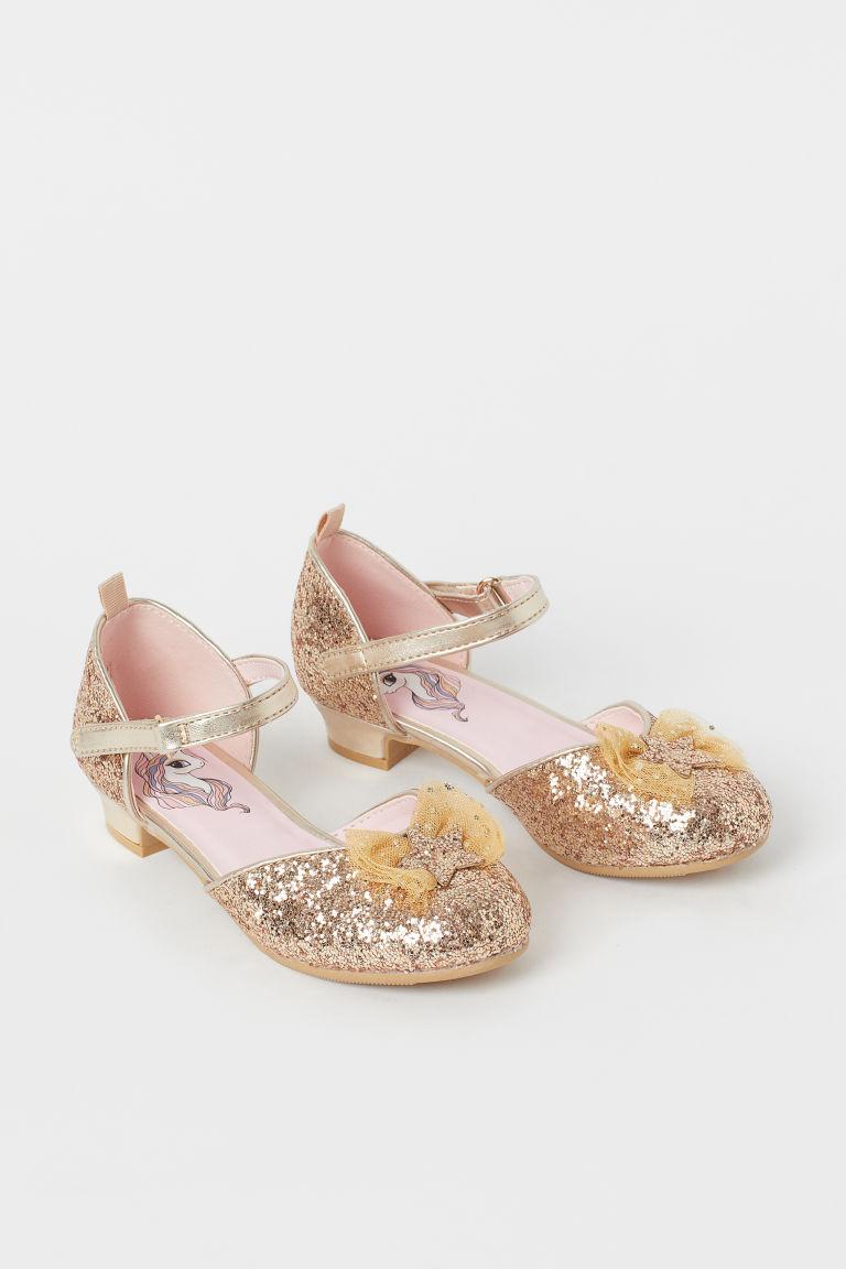 H & M - 金蔥禮服鞋 - 金色