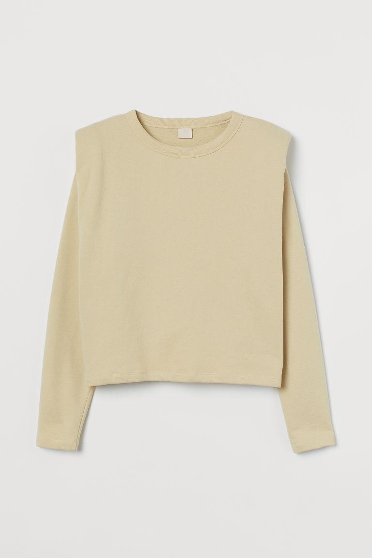 H & M - 墊肩上衣 - 黃色