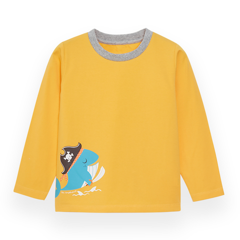 【EASY輕鬆系列】麗嬰房 男童海盜樂園針織上衣-中黃 (76cm~130cm)