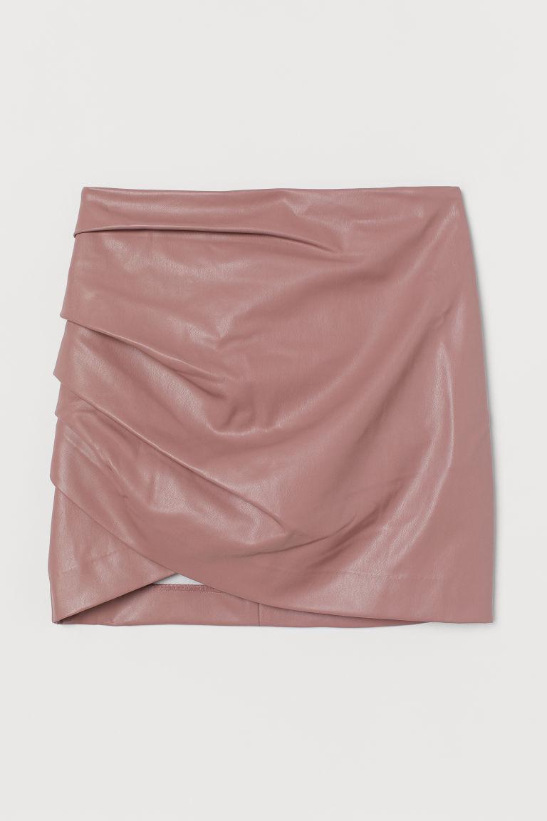 H & M - 垂墜感迷你裙 - 粉紅色
