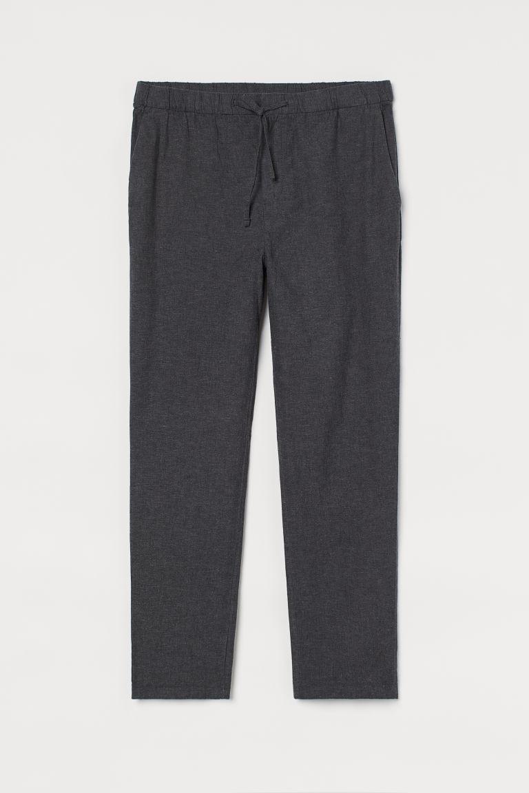 H & M - 休閒剪裁長褲 - 灰色