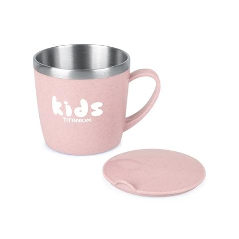 【Tiliving】純鈦兒童水杯250ml-粉