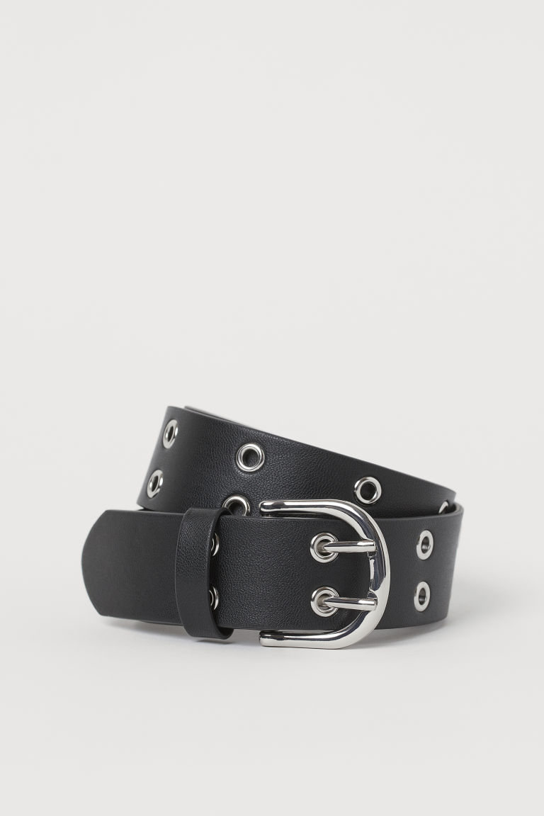 H & M - 孔眼細節腰帶 - 黑色