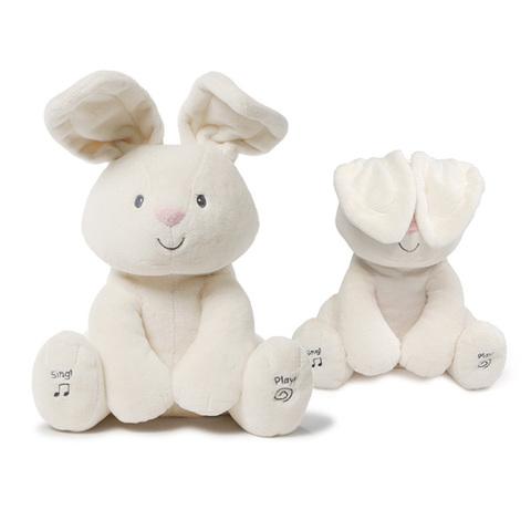美國GUND 小兔躲貓貓音樂互動玩偶