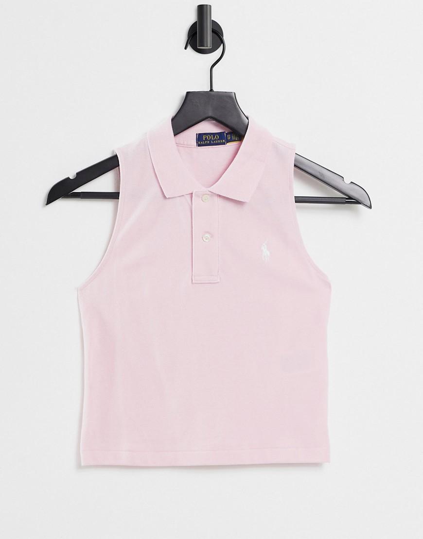 Polo Ralph Lauren sleeveless polo shirt in pink