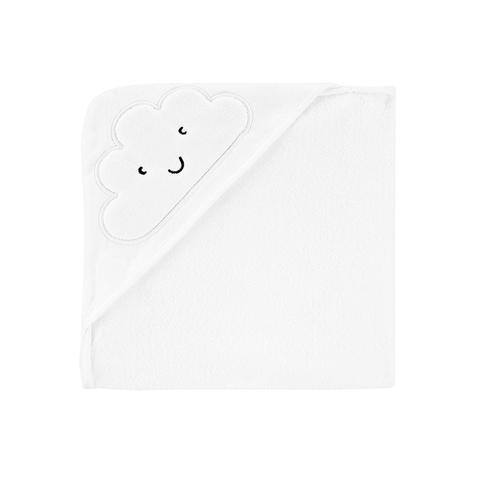 Carter's 台灣總代理 連帽造型浴巾-白雲朵(OSZ)