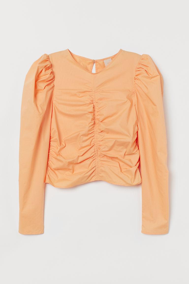 H & M - 公主袖女衫 - 橙色