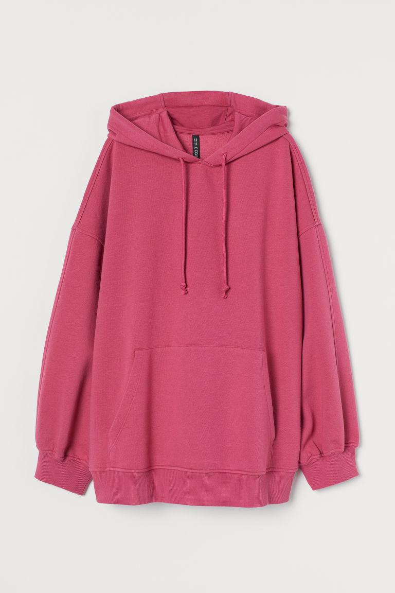 H & M - 加大碼連帽上衣 - 粉紅色