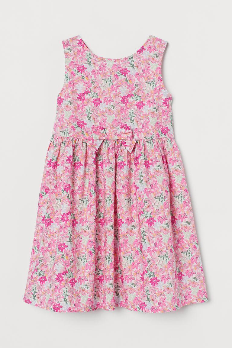 H & M - 棉質洋裝 - 粉紅色