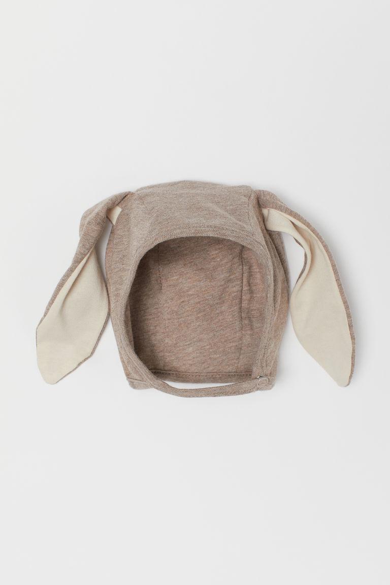 H & M - 耳朵裝飾嬰兒帽 - 米黃色