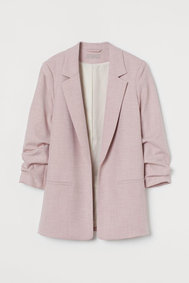H & M - 抓皺衣袖外套 - 粉紅色