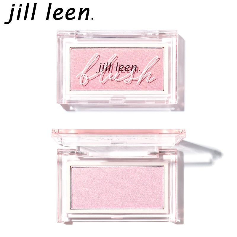 JILL LEEN炫色腮紅玫瑰柔粉色DEEP 含細金粉自帶高光持久不掉色