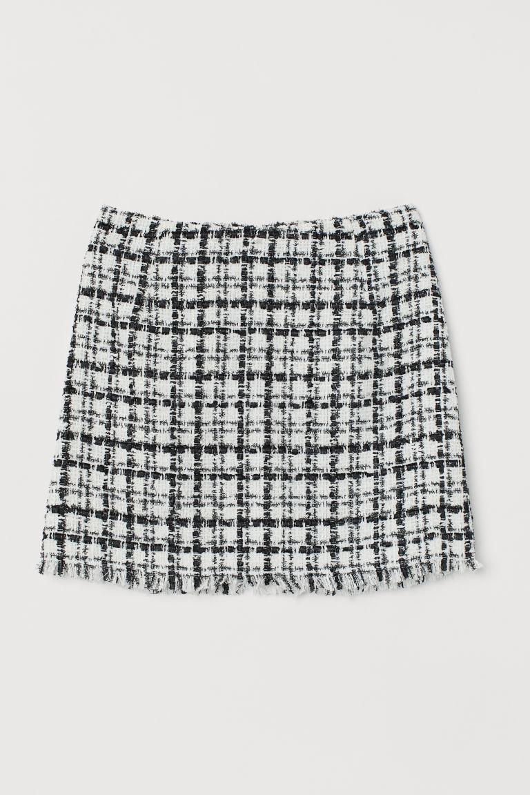 H & M - 提花平織裙 - 白色