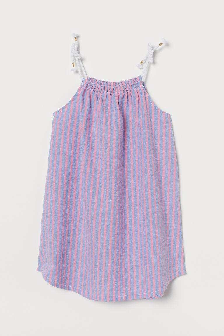 H & M - 棉質洋裝 - 藍色