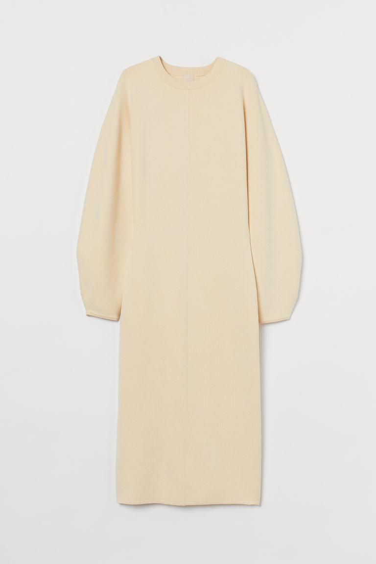 H & M - 精織洋裝 - 黃色