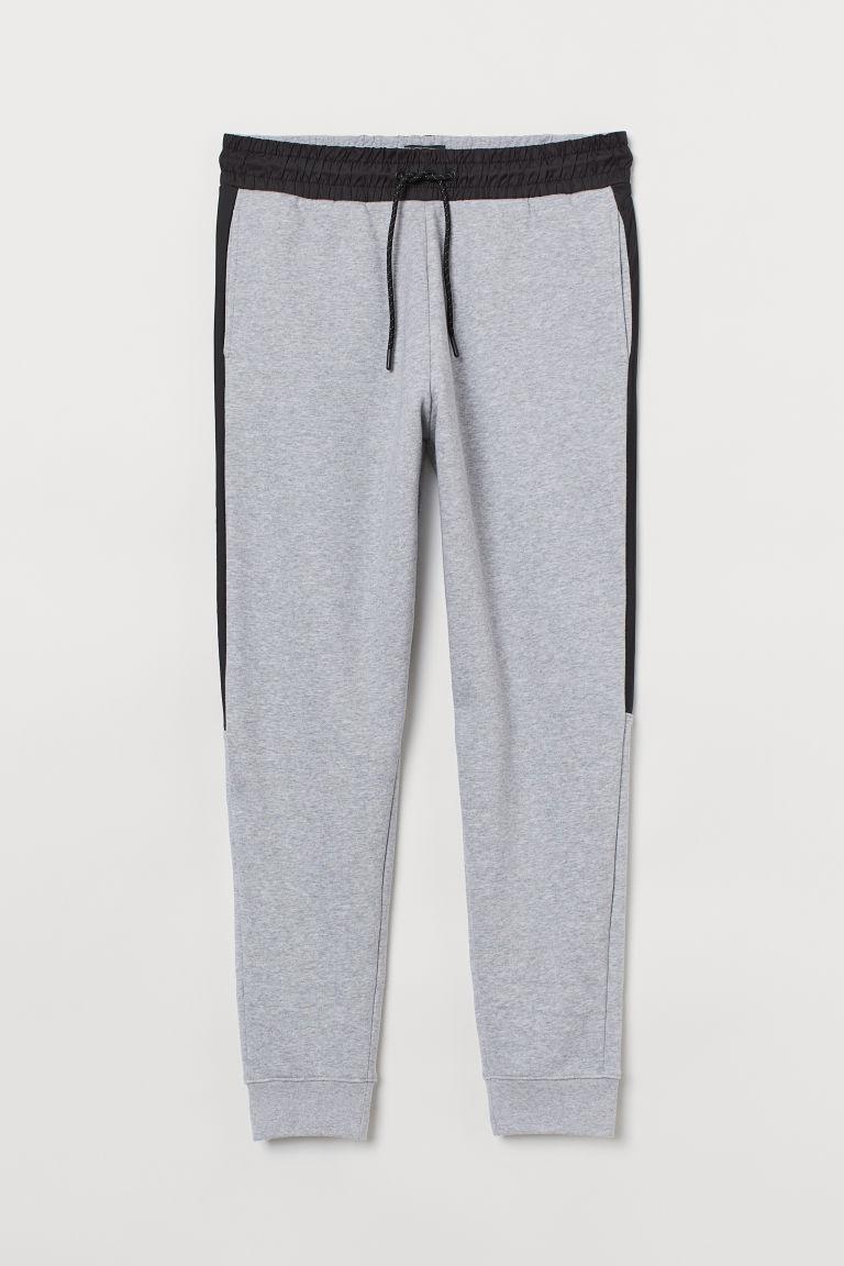 H & M - 側拼布慢跑褲 - 灰色