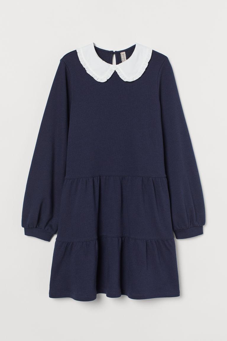 H & M - 有領運動洋裝 - 藍色