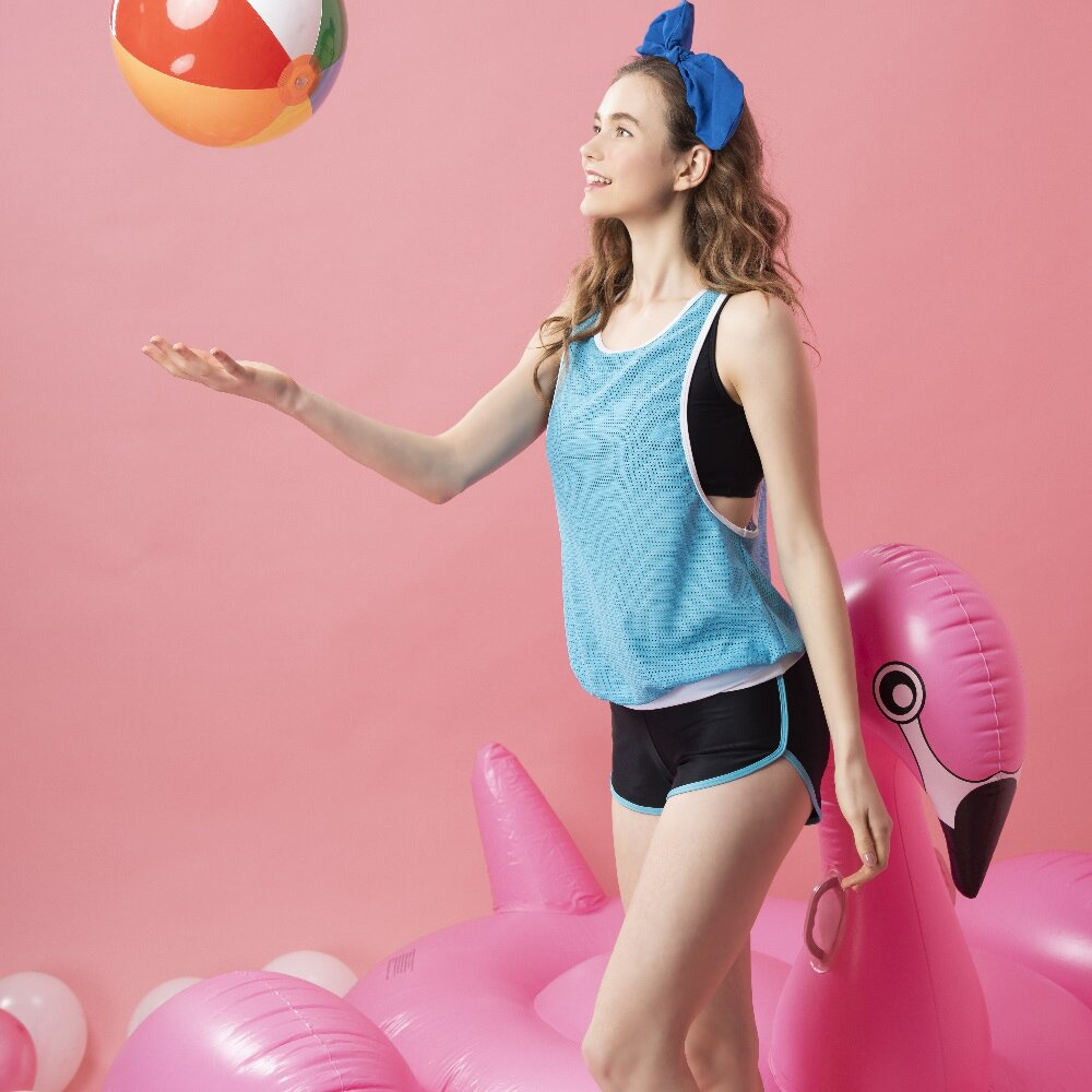 【SARBIS】兩截式泳裝附泳帽 B922023