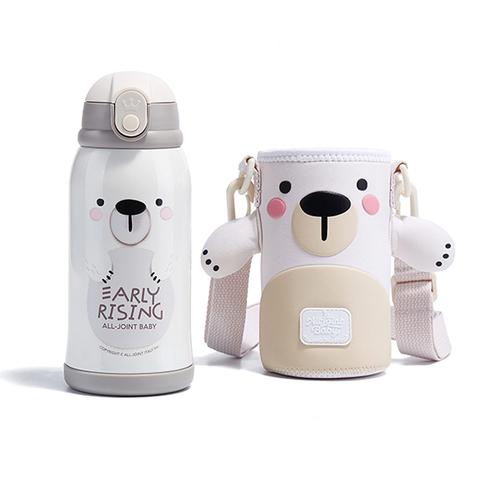 義大利ALL-JOINT動物王國保溫杯600ML-大白熊