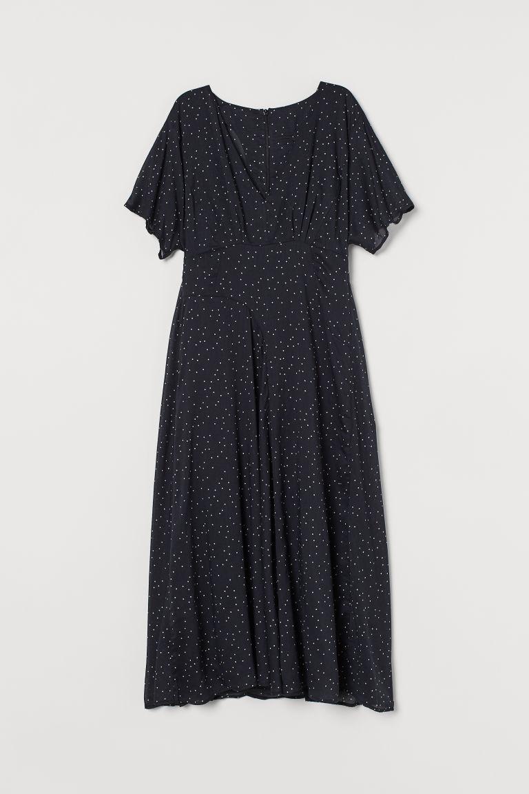 H & M - 莫代爾混紡洋裝 - 黑色