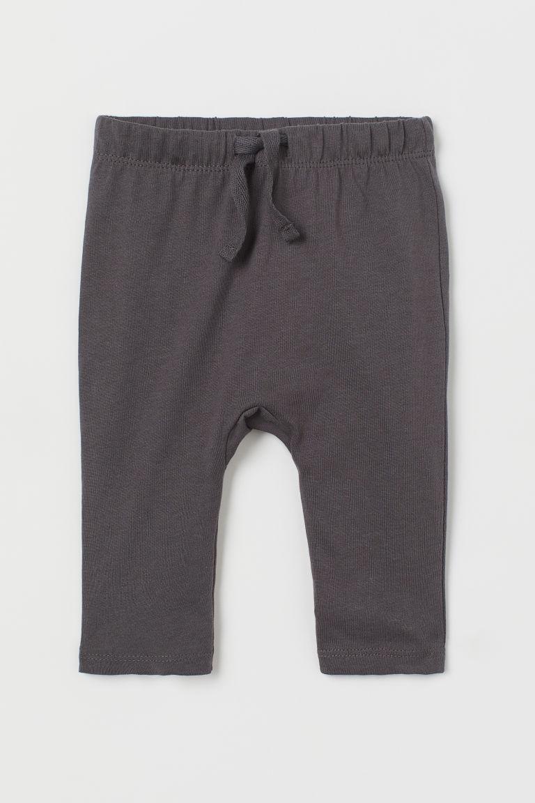H & M - 棉質平紋長褲 - 灰色