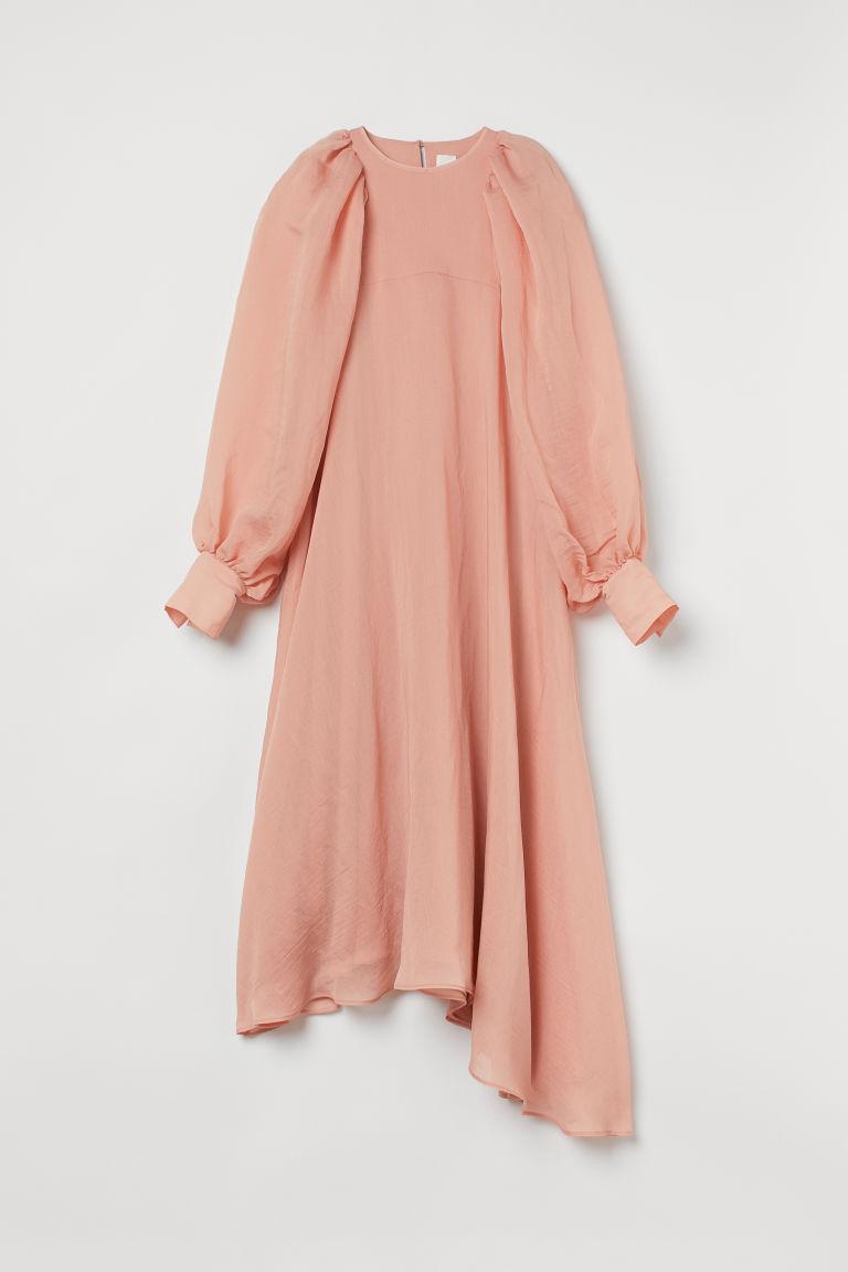 H & M - 燈籠袖洋裝 - 橙色