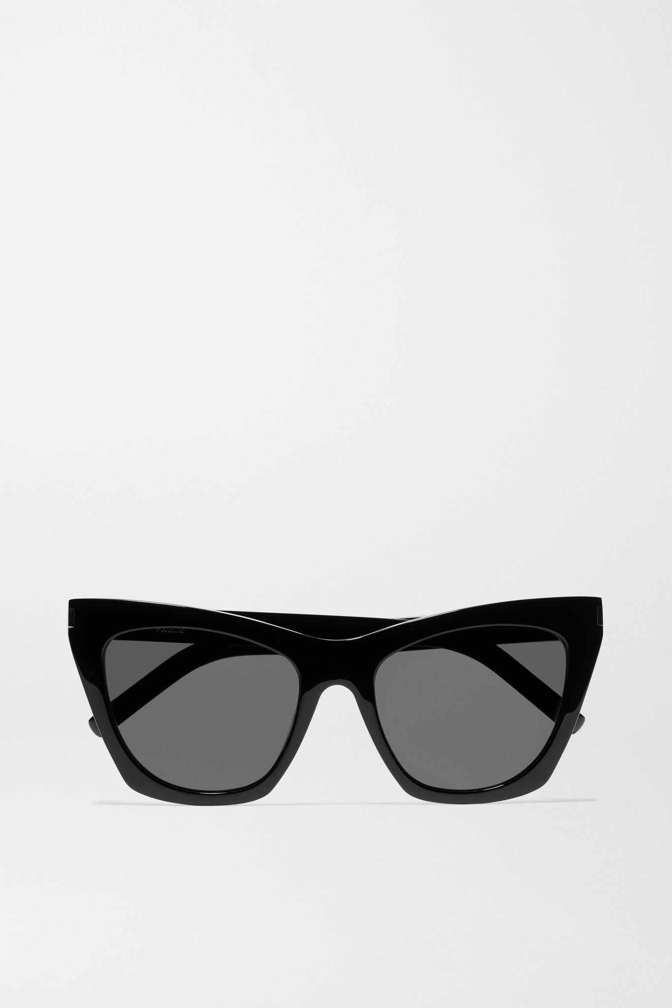 SAINT LAURENT - Kate Cat-eye Acetate Sunglasses - Black - one size
