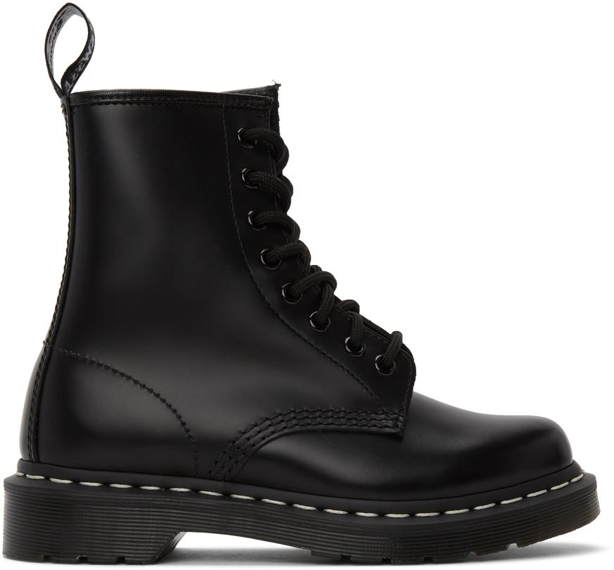 Dr. Martens 黑色 1460 撞色缝线踝靴